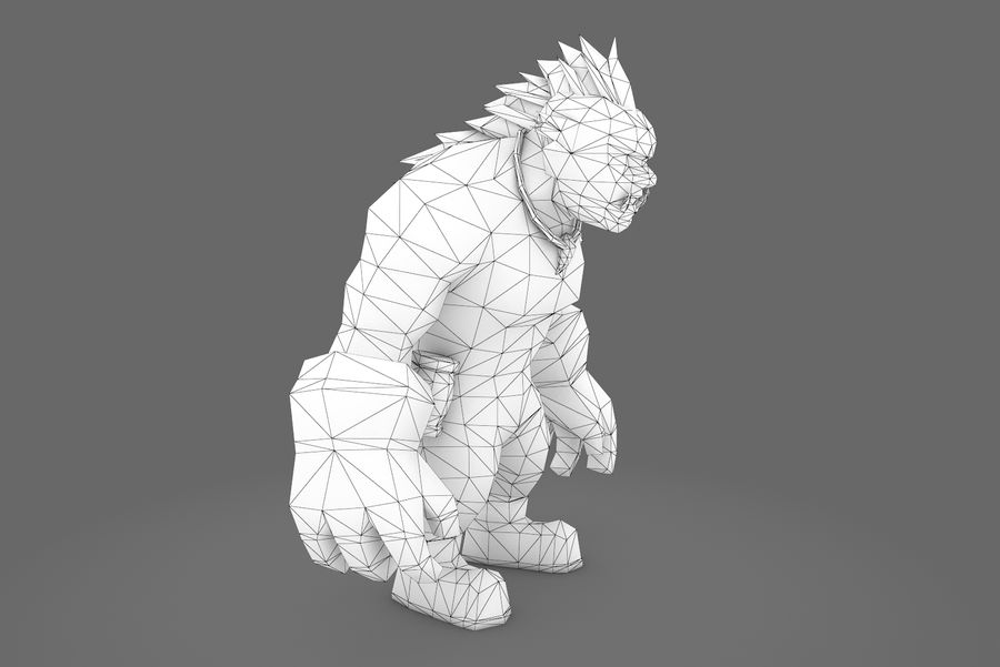 Animated Rigged Character Type F royalty-free 3d model - Preview no. 23