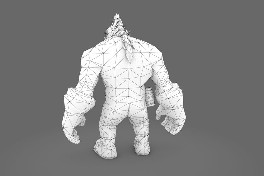 Animated Rigged Character Type F royalty-free 3d model - Preview no. 25