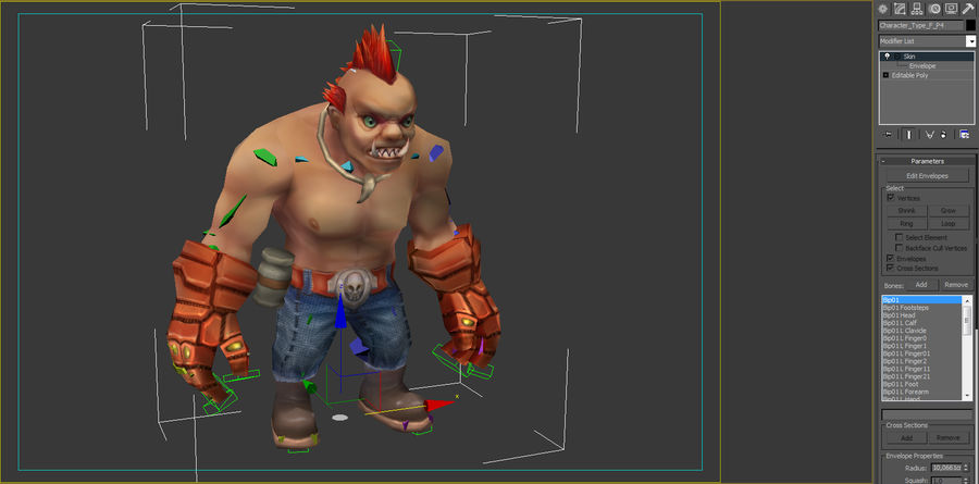 Animated Rigged Character Type F royalty-free 3d model - Preview no. 8