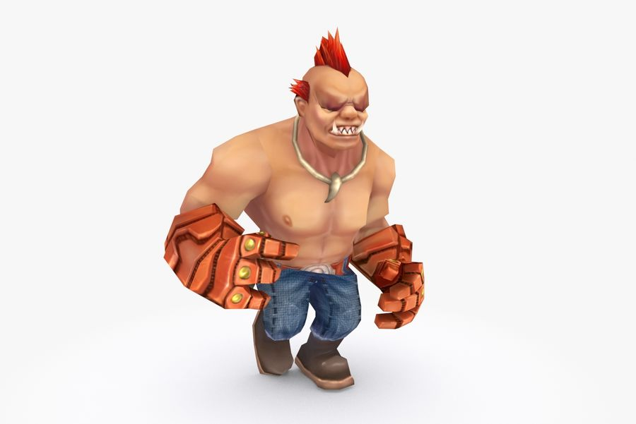 Animated Rigged Character Type F royalty-free 3d model - Preview no. 11
