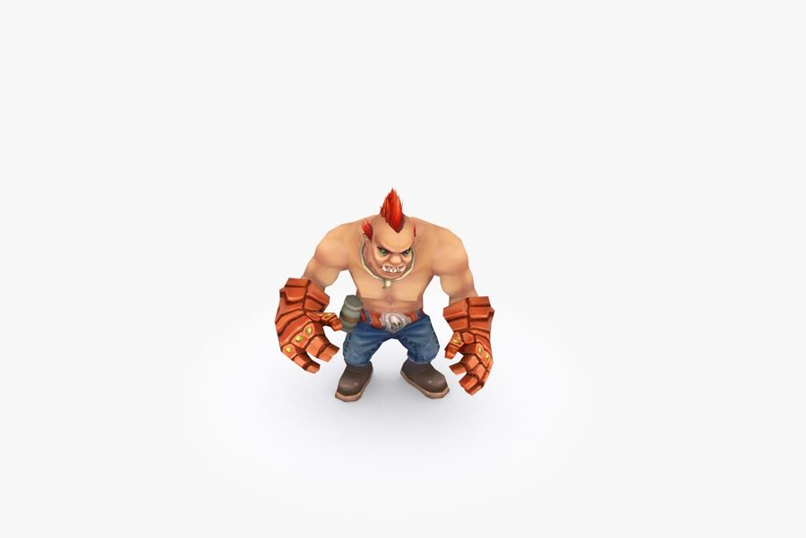 Animated Rigged Character Type F royalty-free 3d model - Preview no. 6