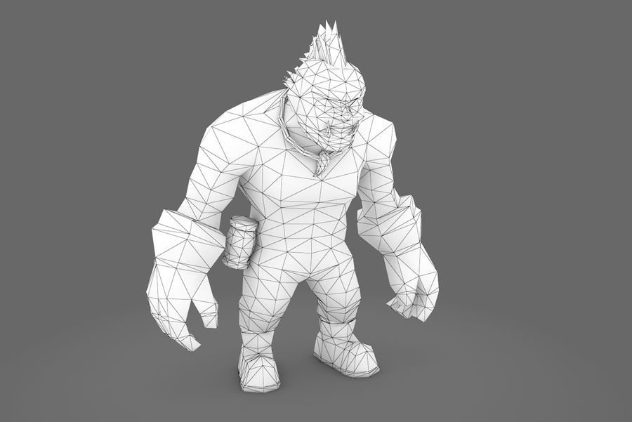 Animated Rigged Character Type F royalty-free 3d model - Preview no. 22