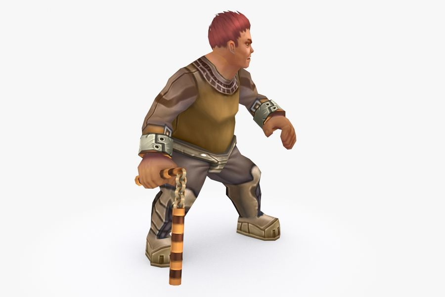 Animated Rigged Character Type K royalty-free 3d model - Preview no. 5