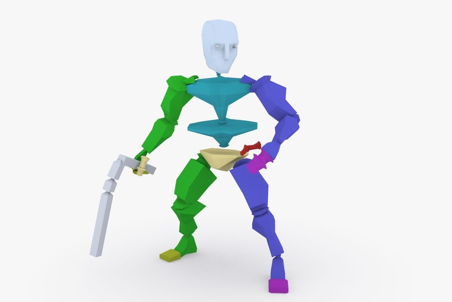 Animated Rigged Character Type K royalty-free 3d model - Preview no. 9