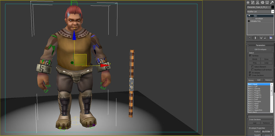 Animated Rigged Character Type K royalty-free 3d model - Preview no. 8