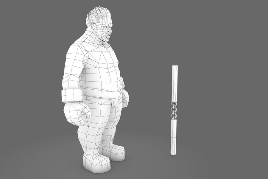 Animated Rigged Character Type K royalty-free 3d model - Preview no. 1