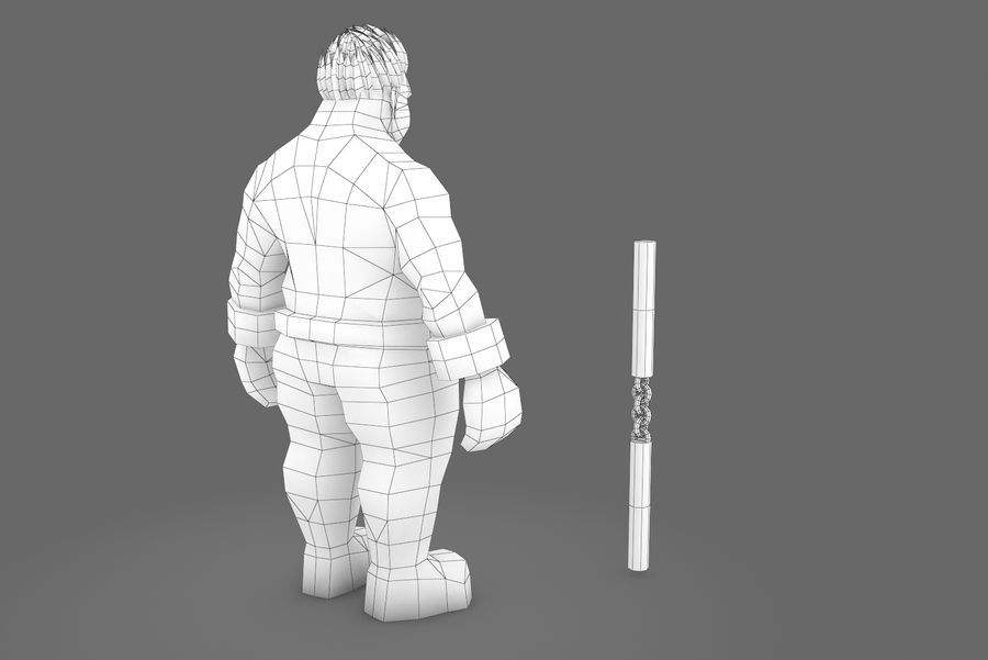 Animated Rigged Character Type K royalty-free 3d model - Preview no. 2