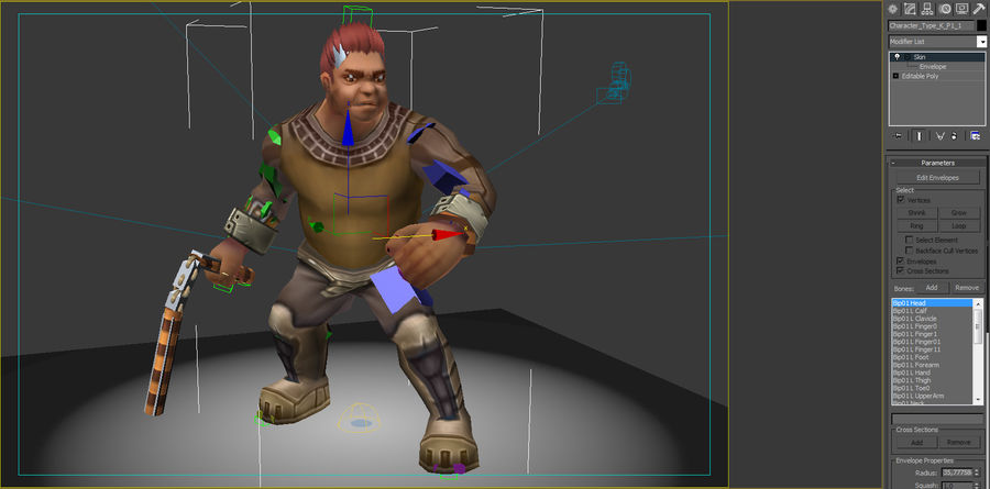 Animated Rigged Character Type K royalty-free 3d model - Preview no. 7