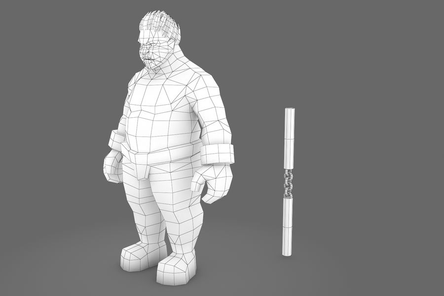 Animated Rigged Character Type K royalty-free 3d model - Preview no. 4