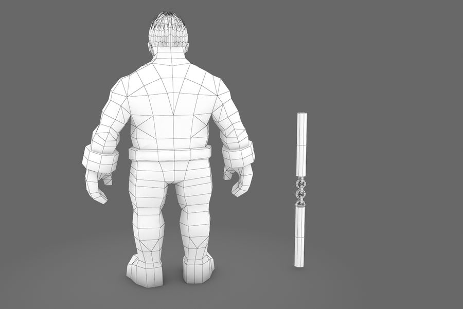 Animated Rigged Character Type K royalty-free 3d model - Preview no. 3