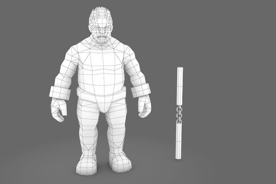 Animated Rigged Character Type K royalty-free 3d model - Preview no. 10