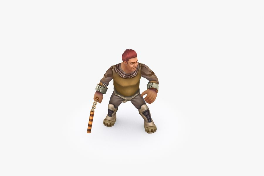 Animated Rigged Character Type K royalty-free 3d model - Preview no. 6