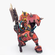 Animerad Rigged Robot Type E 3d model
