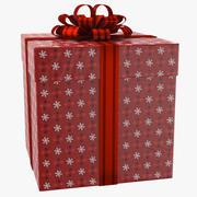 Geschenkbox Rot 01 3d model