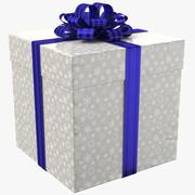Geschenkbox Weiß 01 3d model