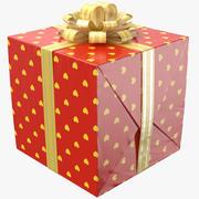Geschenkbox Rot 02 3d model