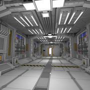 공상 과학 인테리어 3d model