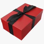 Geschenkbox Rot Und Schwarz 3d model
