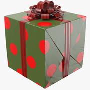 Geschenkbox Grün Und Rot 3d model