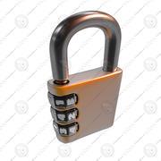 卡通锁 3d model
