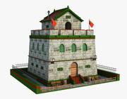 Fantasy Asian Building 3d model