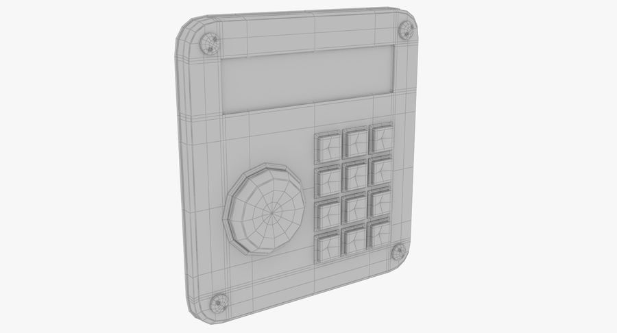 Keypad System royalty-free 3d model - Preview no. 10