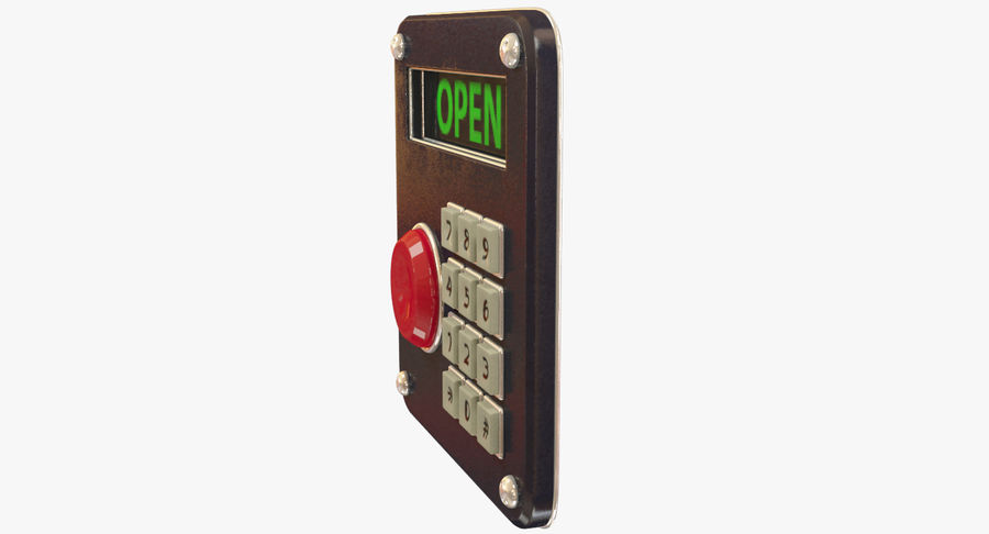 Keypad System royalty-free 3d model - Preview no. 6