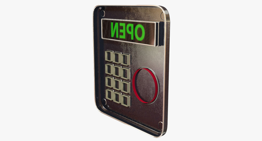 Keypad System royalty-free 3d model - Preview no. 9