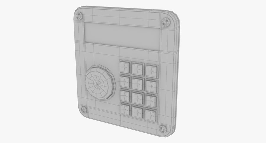 Keypad System royalty-free 3d model - Preview no. 11