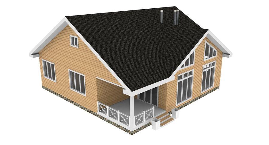 Drewniany dom z bali royalty-free 3d model - Preview no. 9