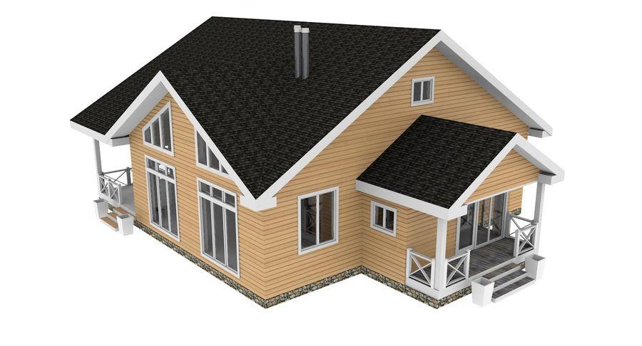 Drewniany dom z bali royalty-free 3d model - Preview no. 8