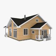 Drewniany dom z bali 3d model