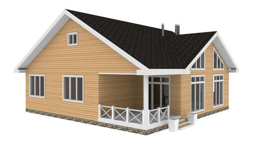 Drewniany dom z bali royalty-free 3d model - Preview no. 5