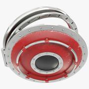 Röd rymdskepp 3d model