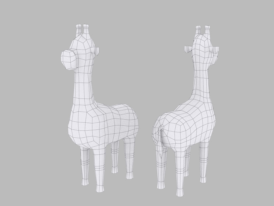 Cartoon Giraffe royalty-free 3d model - Preview no. 7
