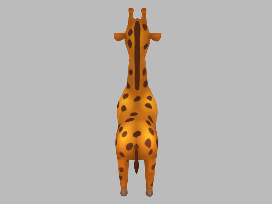 Cartoon Giraffe royalty-free 3d model - Preview no. 5