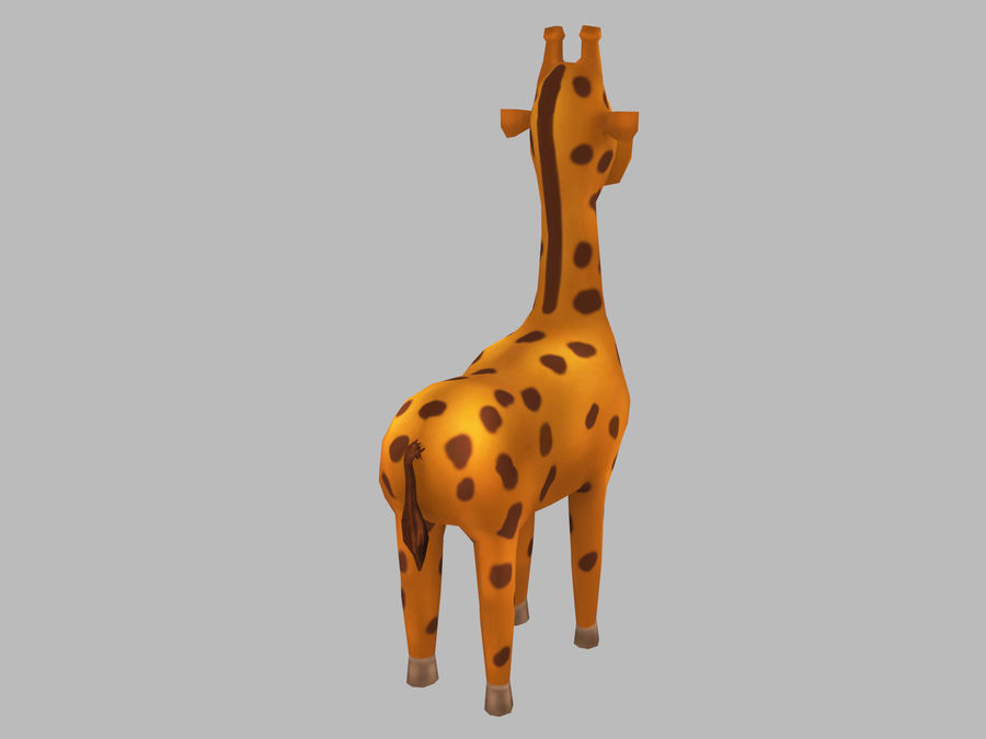 Cartoon Giraffe royalty-free 3d model - Preview no. 4