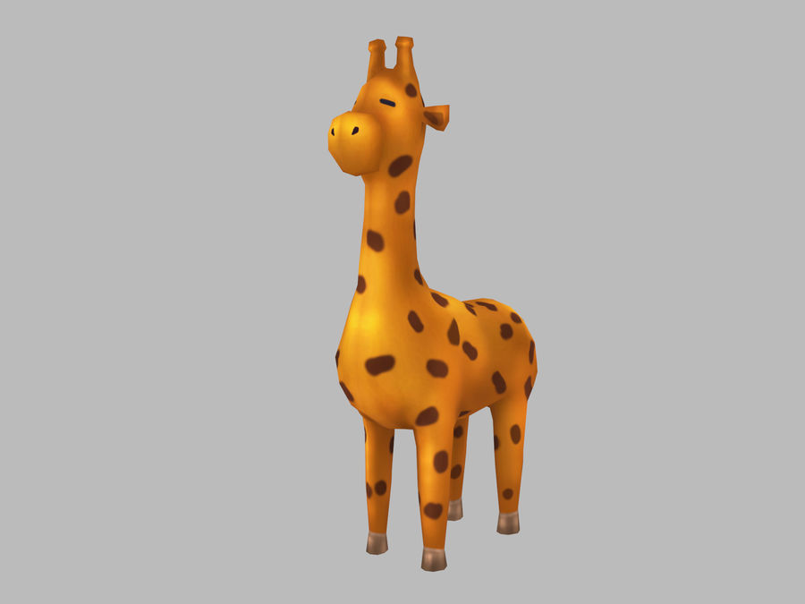 Cartoon Giraffe royalty-free 3d model - Preview no. 1