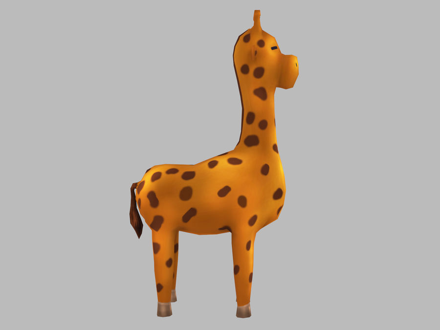 Cartoon Giraffe royalty-free 3d model - Preview no. 3