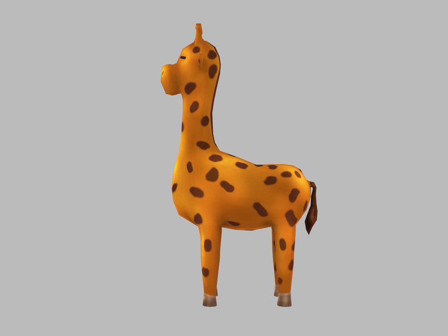 Cartoon Giraffe royalty-free 3d model - Preview no. 6