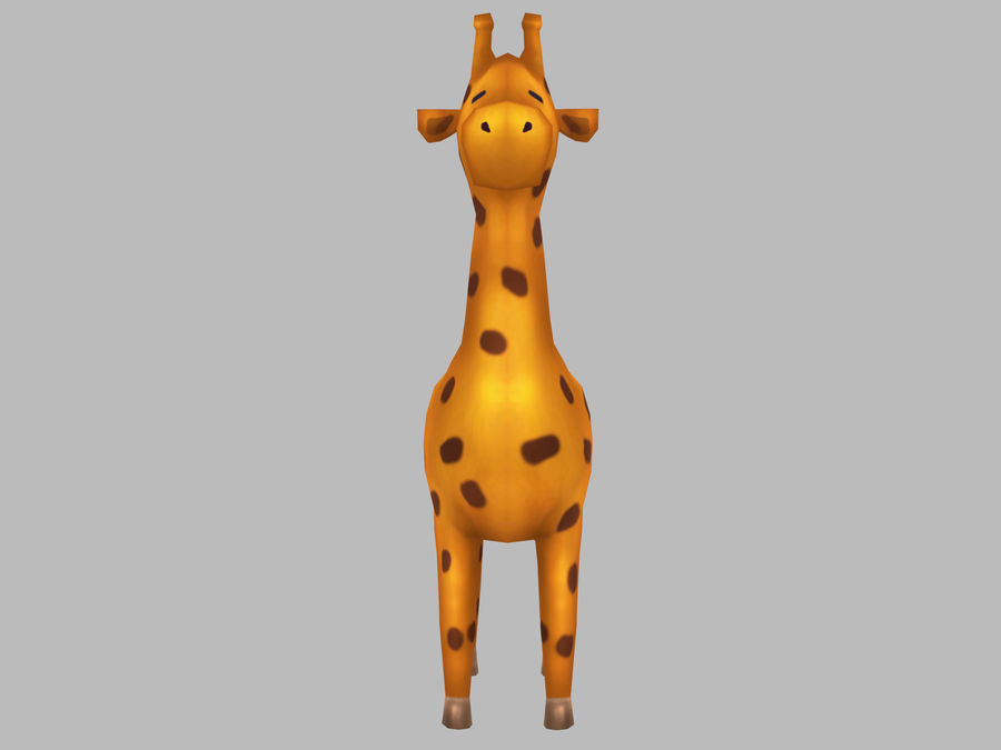 Cartoon Giraffe royalty-free 3d model - Preview no. 2