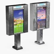 Painel publicitário 3d model