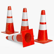 Cone Traffic 3d model