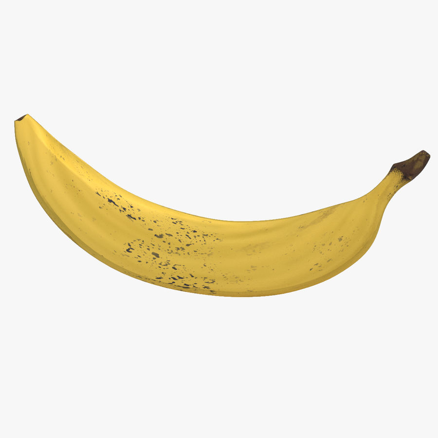 Fruta de plátano realista royalty-free modelo 3d - Preview no. 1