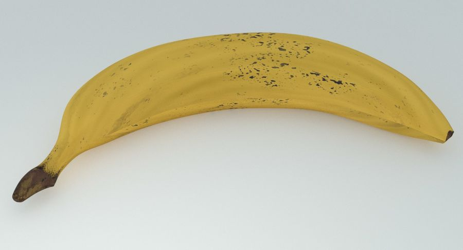 Fruta de plátano realista royalty-free modelo 3d - Preview no. 6