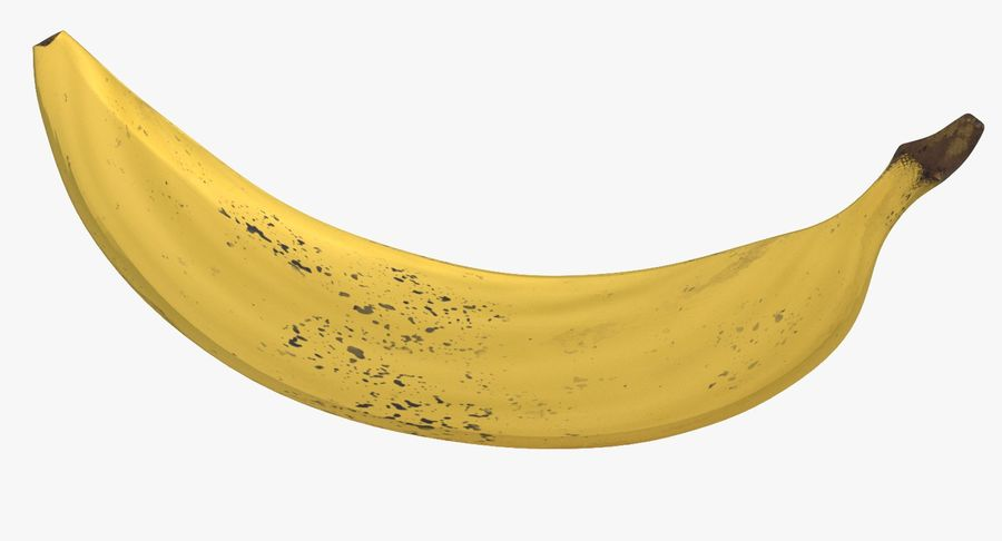 Fruta de plátano realista royalty-free modelo 3d - Preview no. 2