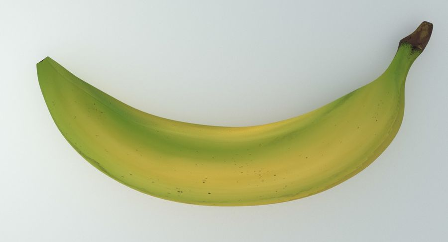 Fruta de plátano realista royalty-free modelo 3d - Preview no. 11