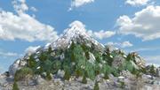 Montanha da neve da fantasia 3d model