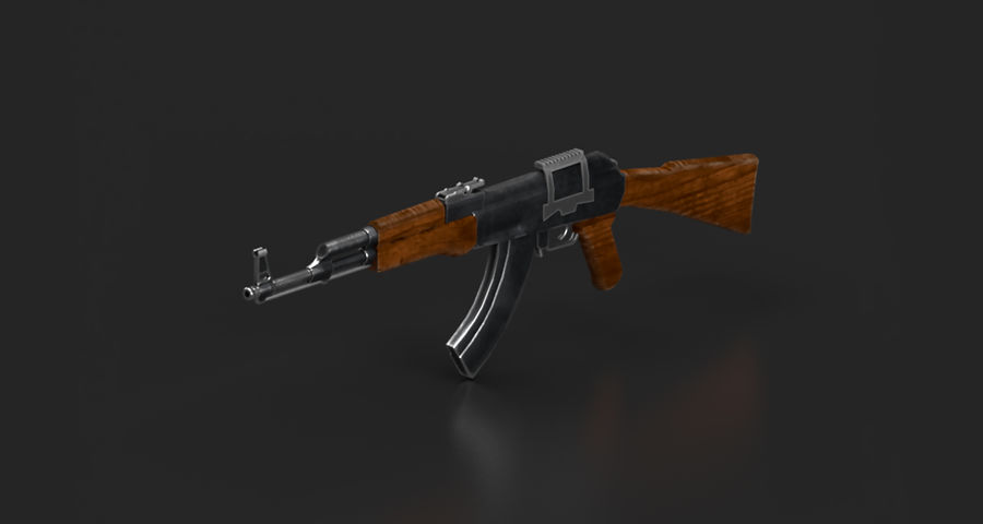 AK47 Gun royalty-free 3d model - Preview no. 3