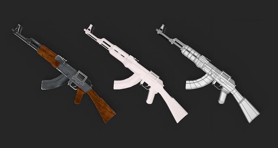 AK47 Gun royalty-free 3d model - Preview no. 10